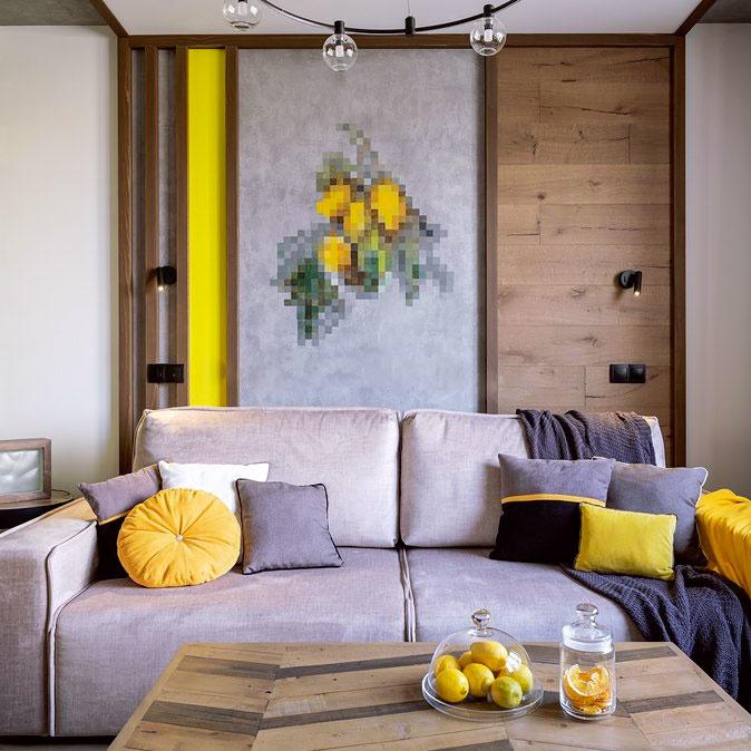 Роспись акриловыми красками на стене выполненная в стиле оптическая иллюзия автор Панин Ярослав